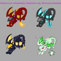 Hellhound Adoptables (OPEN AUCTION) by MoonheartAdopts