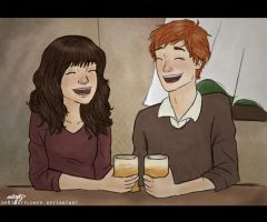 romione loves butterbeer by incredibru