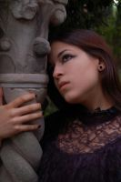 Girl in Cemetery 6 by InTenebris-Stock