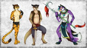 The Tiger, Otter and Fox by Silvixen