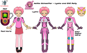 Aelita Schaeffer - Lyoko and EXE Refs by SuperDigiFlow