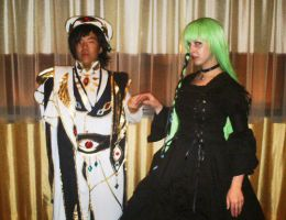 Fanime'11: Lelouch and CC 2 by theEmperorofShadows