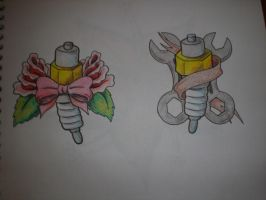 His and Hers Spark Plugs by Freddyferd