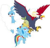 Rainbow Dash's Team by SeaAndSunshine
