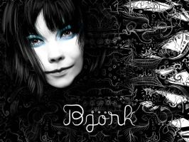 Bjork Wallpaper by ayaspiralout
