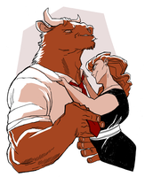 minotaur husband by Psshaw
