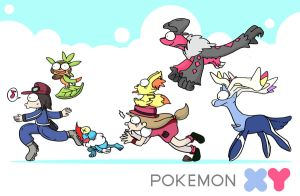welcome POKEMON X + Y by c4tman