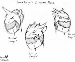 Power Rangers Creature Force Extra Rangers by Dinoboy134