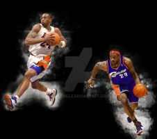 KB and LBJ by chaskillz