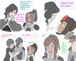 Korra and the Wolfbats by thefuzzysweater
