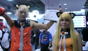 Me as USee and one of my little sisters as SeeU 2 by douirotoaoiro