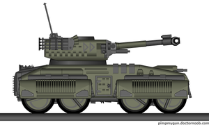 Cerberus light wheeled tank by Robbe25