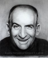 Louis de Funes by Lillian-Bann