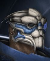 Garrus Vakarian fan-art by DraconianArtLine