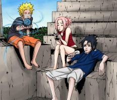 Naruto Summer -colored- by mandygugs