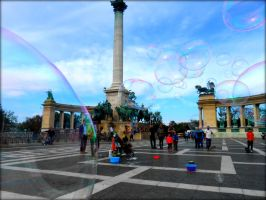 Bubble Attack at Heros Square by Arlen-McTaranis