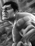 Hulk Final with Background by corysmithart