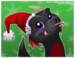 Squishy Christmassy Baby Midnight the Dragon! by Nyaasu