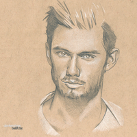 Alex Pettyfer. #Sketchbook by dankershaw