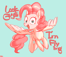 Flying Pinkie Pie by Remsica