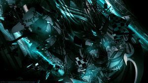 Fall into the abyss BLACK ROCK SHOOTER WALLPAPER by SeventhTale