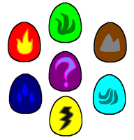 Battlesaurs- Eggs (vary by elements) by FeralStormRaptor