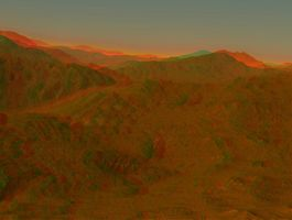 Mountain Sunrise Stereo by DDDPhoto