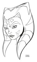 Ahsoka Tano Inking Variant by Vegeta1978