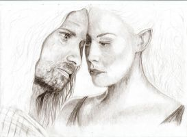 Arwen and Aragorn by Elfik777