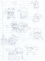 Characters I Draw Frequently by MistyKoopa