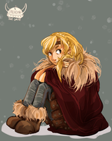 Astrid in the snow by Dreamsoffools