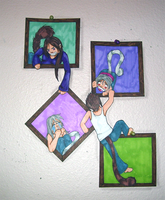 Framed -Paper- Children by Roselyn-May