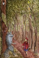 Little Red Riding Hoo- hiyicil by childrensillustrator