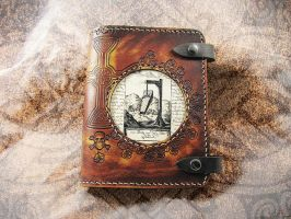 Leather Journal Cover - The Body at the Crossroads by LabyrinthLeather