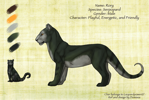 Serpopard ref sheet for Leopardpower07 by Domisea