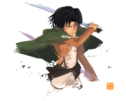 Speedpainting: Levi [+video] by Hatsuraikun