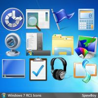Windows 7 Official 256x256 Icons (ICNS) by muckSponge