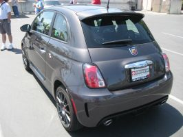 Fiat Abarth 500 Dark Grey Metallic Rear by granturismomh