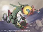 Rayquaza - deoxys - pokemon by nganlamsong