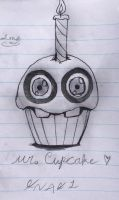 [FNaF] Mr.Cupcake - Pen And Pencil Sketch by Pastel-Horrors