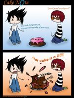 Death Note_Portal - cake note by herman-the-handyman