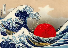 Japan Under the Wave by gilderic