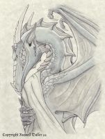 Anthro Dragon Portrait by RussellTuller
