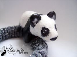 "Elastic band for hair ""Panda"" by Tantalia"