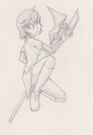 girl with halberd by G4MM43T4