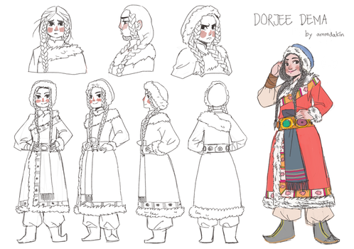 Character Design - Dorjee Dema (winner) by ammdakin
