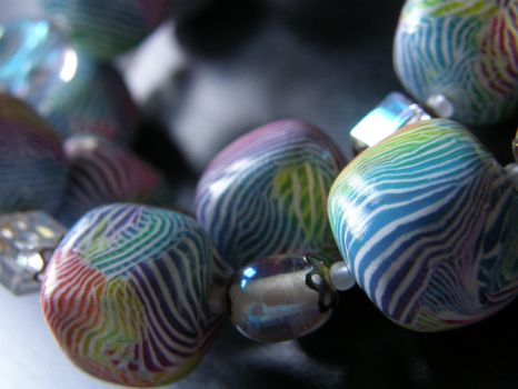 Gay ZebraPolymer Clay Necklace by thecraftinista