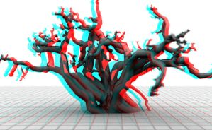 Mutant tree anaglyph by mrkane27