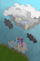 Derping in the Rain by eillahwolf