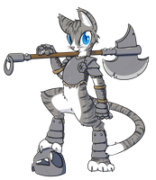 Cat Warrior by Geomancing